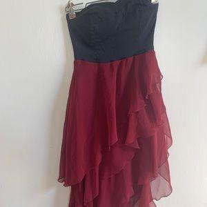 Beautiful dark red formal dress.